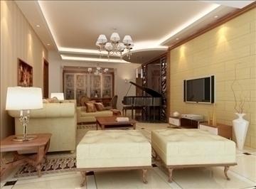 living room 62 3d model max 98749