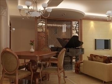 living room 62 3d model max 98750