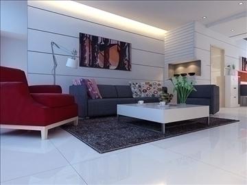 living room 63 3d model max 98752