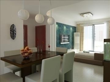 living room 64 3d model max 98758