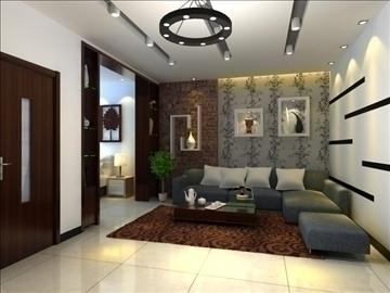 living room 65 3d model max 98763