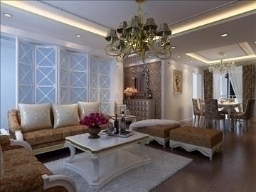 living room 67 3d model max 98770