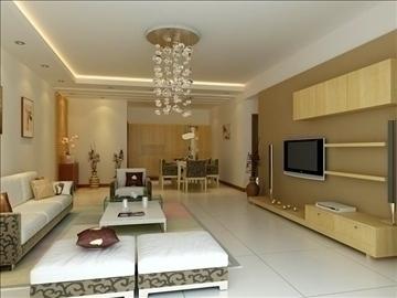 living room 68 3d model max 98834