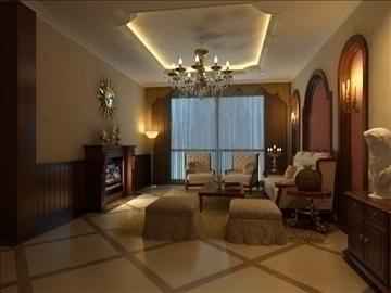 living room 71 3d model max 98984