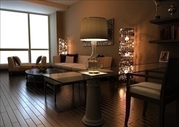 living room 74 3d model max 99012
