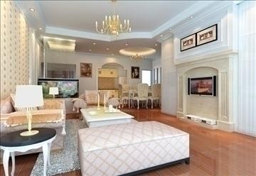 living room 84 3d model max 104985