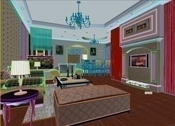 living room 84 3d model max 104987