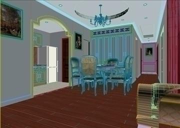 living room 84 3d model max 104988
