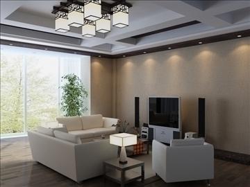 living room 85 3d model max 104996