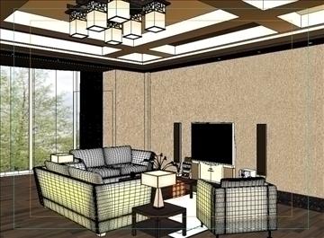 living room 85 3d model max 104997