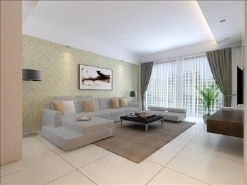 living room 86 3d model max 104999