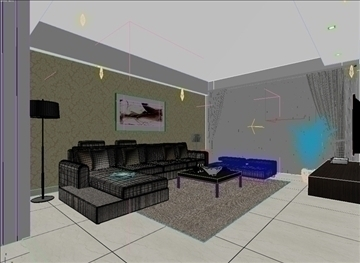 living room 86 3d model max 105001