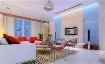 living room009 3d model 3ds max 83570