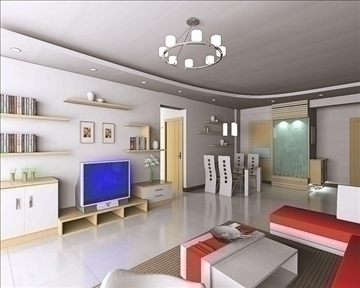 living room010 3d model 3ds max 83573