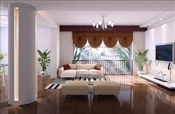 living room014 3d model 3ds max 83635