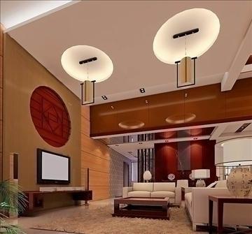 living room015 3d model 3ds max 83637
