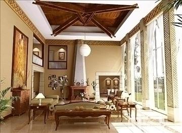 living room017 3d model 3ds max 83645