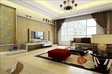 living room018 3d model 3ds max 83647