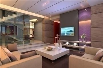 living room052 3d model 3ds max 83856