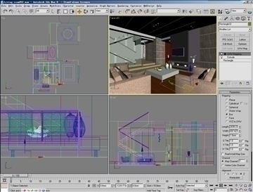 living room052 3d model 3ds max 83857