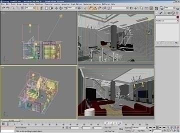 living room076 3d model 3ds max 83907