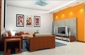 living room078 3d model 3ds max 83911