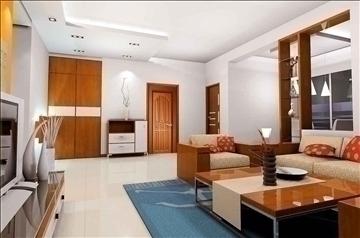 living room078 3d model 3ds max 83912