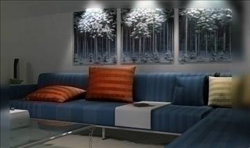 living room085 3d model 3ds max 83931