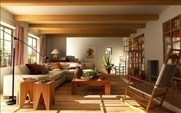 living room109 3d model 3ds max 84013