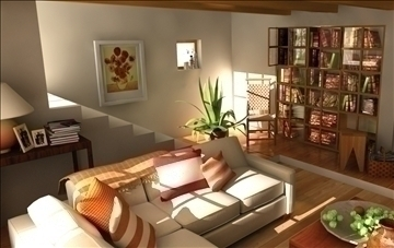 living room109 3d model 3ds max 84016