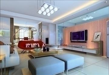 living room143 3d model 3ds max 84239