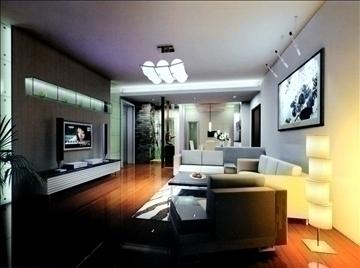 living room763 3d model 3ds max 95651