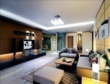 living room764 3d model 3ds max 95653