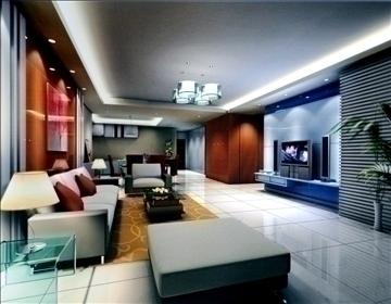 living room765 3d model 3ds max 95655