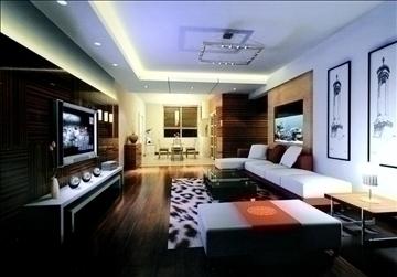 living room766 3d model 3ds max 95656