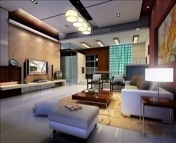 living room771 3d model 3ds max 95666