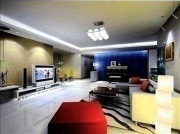 living room772 3d model 3ds max 95668