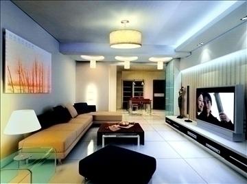 living room773 3d model 3ds max 95670