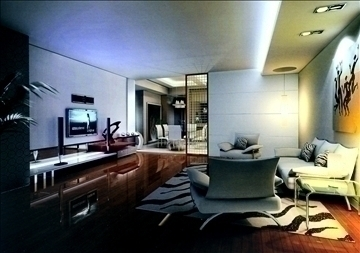 living room774 3d model 3ds max 95672