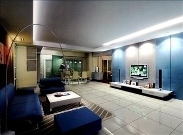 living room776 3d model 3ds max 95676
