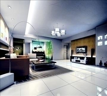 living room777 3d model 3ds max 95678