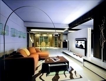 living room778 3d model 3ds max 95680