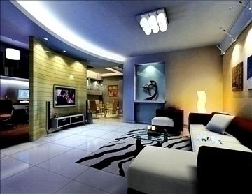living room781 3d model 3ds max 95686