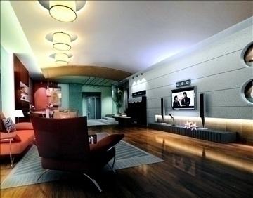 dzīvojamā istaba782 3d modelis 3ds max 95688