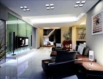 living room791 3d model 3ds max 95706