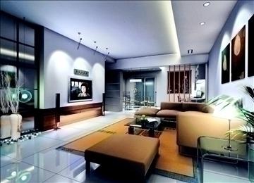 living room796 3d model 3ds max 95716