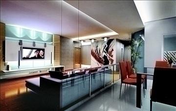 living room799 3d model 3ds max 95722