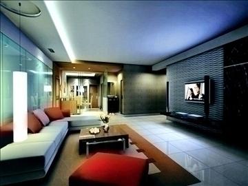 living room800 3d model 3ds max 95724