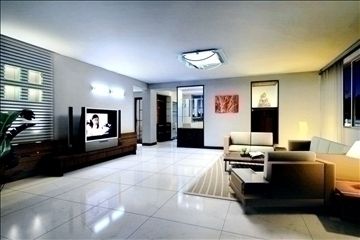living room802 3d model 3ds max 95728