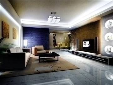 living room813 3d model 3ds max 95749